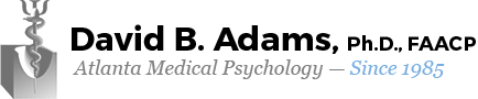 David B. Adams, Ph.D., FAACP, board certified psychologist
